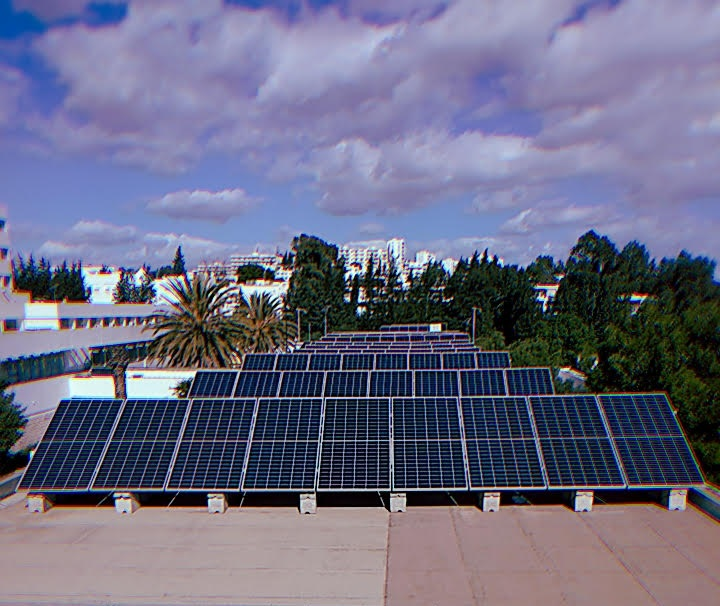 The PV modules of our Platforms, SMARTNESS, Pla-NeTE and others, on the roof of QehnA room, at ENIT #PV modules #Microgrids